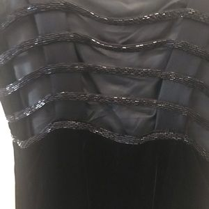 New velvet backles dress with black beaded
